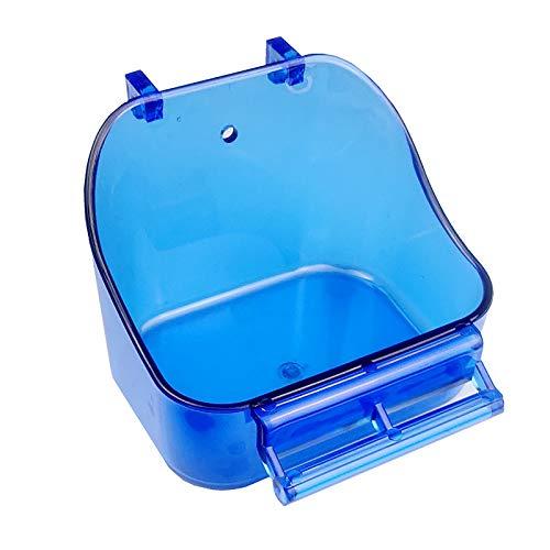 FSYG El Plastico Bañera Pájaro Accesorio Colgando Baño para Pájaros Comida Envase Pájaro Baños para Pequeña Aves, Canario, Periquitos, Loro,Blanco