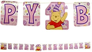 Winnie the Pooh's First Birthday Girl Banner