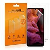 kwmobile Set de 3X película Transparente Compatible con Samsung Galaxy A22 4G - Pack de Protectores de Pantalla para móvil