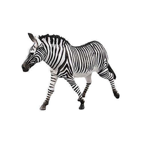 Yangyang Zebra-Figuren Skulptur im Freien Gartenstatue Haus Dekoration Afrikanisches Tiermodell Sammlung Ornamente Kinderspielzeug Geschenke 14 X 4 X 9 cm