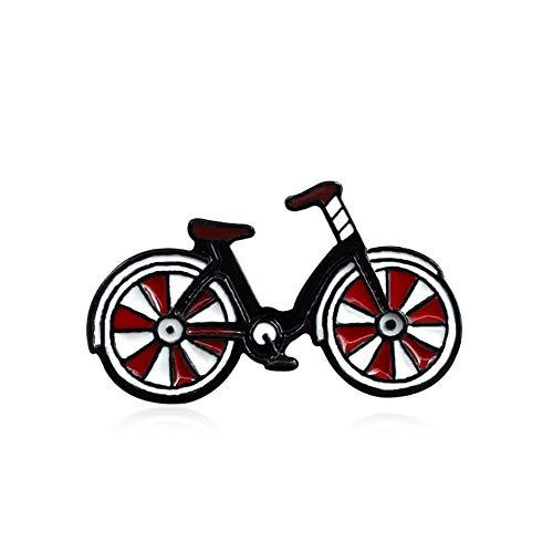 0Miaxudh Pin Spilla, Smalto Distintivo Bicicletta Bicicletta Collare Bavero Spilla Pin Vestiti Gioielli Borsa Decor Red
