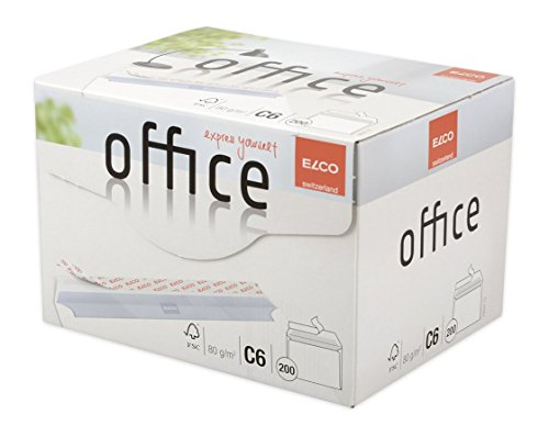 ELCO Office Versandtasche C6 80 g/m² FSC-zertifiziert mit Haftverschluss in Shop-Box 200 Stück weiß