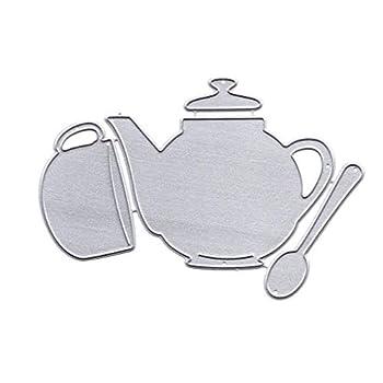 Bettal Cutting Dies Teapot Design Metal Cutting Dies Stencil DIY Scrapbooking Album Stamp Paper Card Embossing Crafts Decor