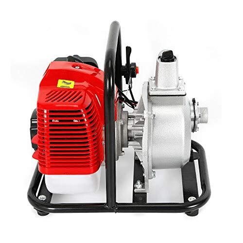 "1"" 1,7PS Benzin Wasserpumpe Motor Schmutzwasserpumpe Teichpumpe Gartenpumpe 43CC 15000 L/h"