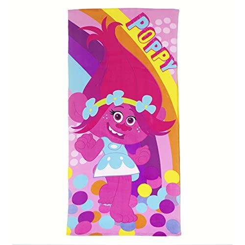 10XDIEZ Toalla Playa niña Microfibra Trolls Poppy   (Estampado )