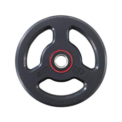 3 hål hantlar diskvikter för fitness tyngdlyftning utrustning barbell gym gummi viktskiva 28 mm handgrepp barbell 5kg / 10 kg / 20kg (Size : 5KG)
