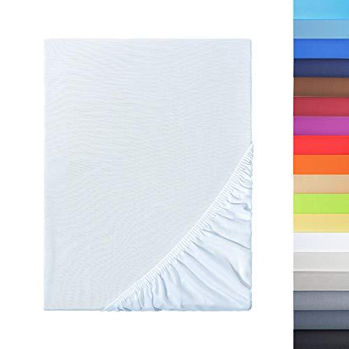 NatureMark sábana Bajera Ajustable, 100% poliéster, Blanco, 120 x 200 cm