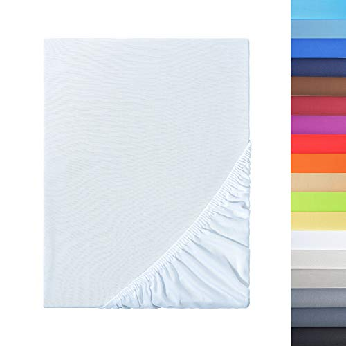 NatureMark Sonderposten!! Mikrofaser SPANNBETTLAKEN zum Sparpreis! viele Größen und Farben Markenware (140x200-160x200 cm, weiß)