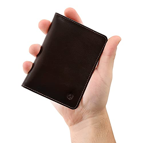 Carteira Masculina Couro Legítimo Proteção RFID Couro50 620 (Café)
