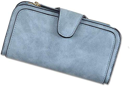 Block Grote capaciteit PU Leather Phone Card LIrte-Bag Storage Snap LIrte dames portemonnee met rits Lich (Kleur: F) Kleur: B (Color : D)