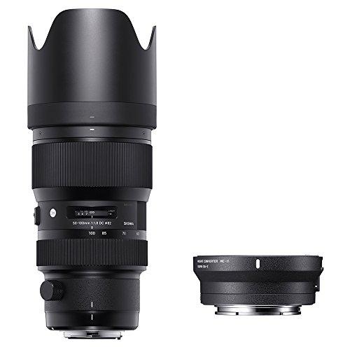 Sigma 693954_ 89e965Kit 50–100mm f/1.8Art EOS + mc-11, Schwarz