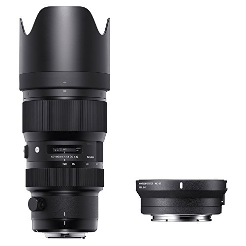 Sigma 693954_89E965 - Kit 50-100 mm F/1.8 Art EOS + MC-11, Color Negro