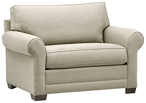 Amazon Brand – Stone & Beam Kristin Chair-and-a-Half Upholstered Sleeper Sofa, 55.5'W, Stone