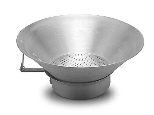 Pardini Omnia Colafritto Alluminio Conico cm40 Utensili da Cucina, Argento