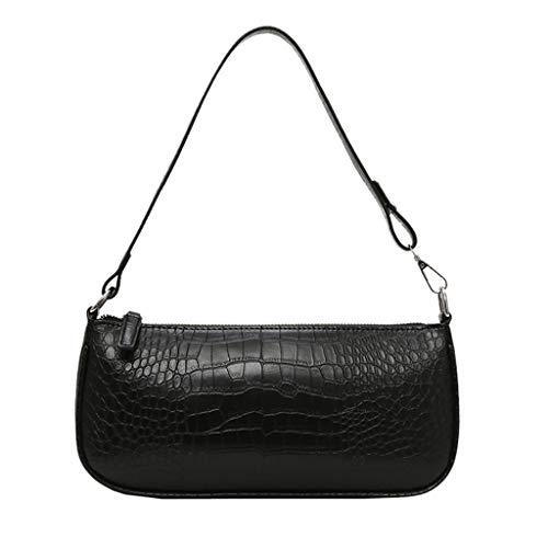 TIFIY Damen Rucksack Women\'s Retro Damentasche Messenger Bag Ladies Casual Schultertasche Commuter Bag Arbeits Täglich Bankett Elegant Tasche(Schwarz)