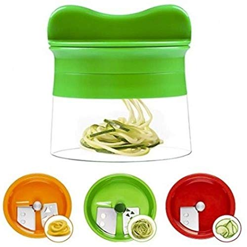 Gemüse-Sililicer-Schneider, ABS-Kunststoff, Salatschneider, Spinner für Spiralnudeln, Zucchini, Spaghetti, Pasta, Käsehobel, Lebensmittel