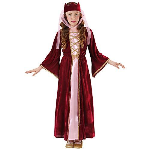 Widmann 12578 – Kinderkostüm Burgfräulein, mittelalterliche Königin, Kleid mit Kopfbedeckung in Größe 158 cm - 3