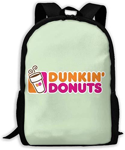 TTmom Schulrucksack,Schüler Bag,Rucksack Damen Herren Dunkin Donuts Logo Unisex Backpack Shoulder Bag School Backpack Travel Bags Laptop Backpack