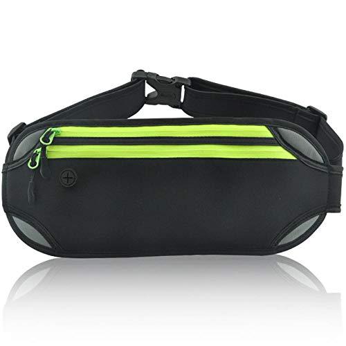 Jqqy Deportes Multifuncionales Fit Verde Fluorescente Unisexo Riñonera De Moda Bolsa De Cintura
