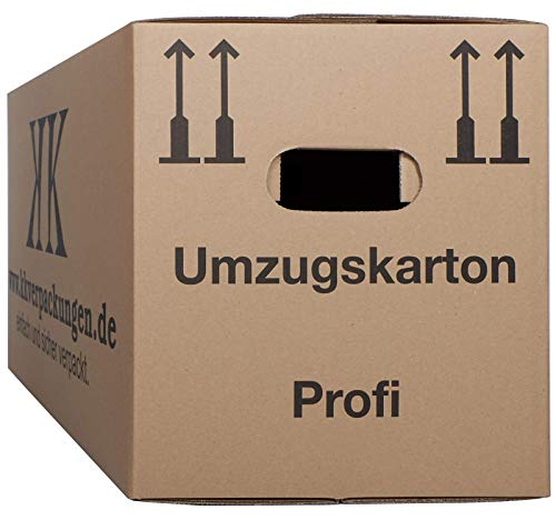2-wellige Umzugskartons, 50 Stück | Extra Stabil & Stapelfähig mit Doppelwelle | Robuster Schmetterlingsboden | Hohe Tragkraft | Optimal für jeden Umzug