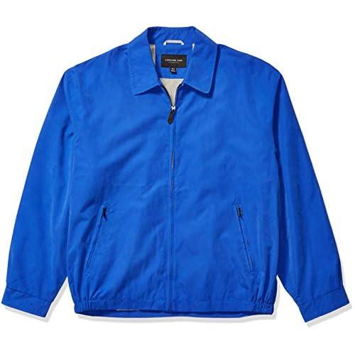 LONDON FOG Men's Auburn Zip-Front Golf Jacket (Regular & Big-Tall Sizes) Cotton Lightweight