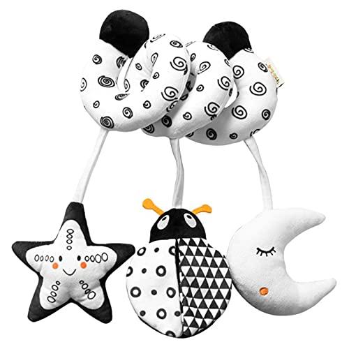 Rehomy Juguete del sonajero de la felpa del bebé - Juguete de la felpa de la mano del juguete del animal de la felpa del bebé del sonajero sensorial del bebé del bebé del niño que cuelga