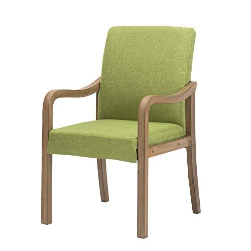 ALY Chaise en Bois Massif rétro Chaise de Loisirs Chaise en Tissu Fauteuil de Cuisine Design Ergonomique pour Bureau café Club