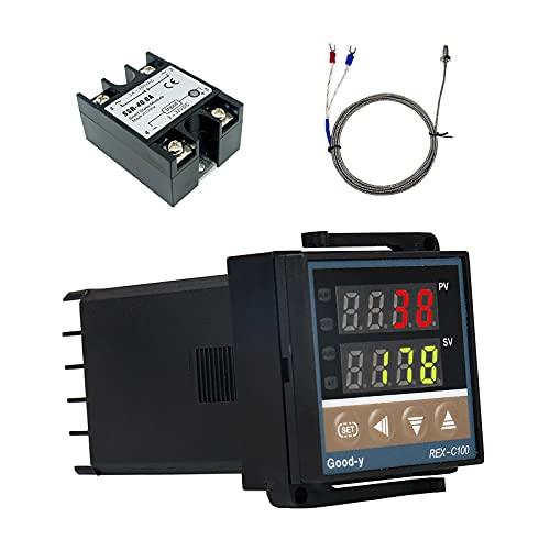 Regulador de temperatura digital REX-C100, 0 ℃ ~ 1300 ℃, alarma PID, kit de control de temperatura digital inteligente, relé, salida con termopar tipo K, sensor de temperatura