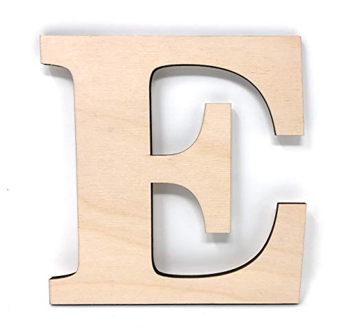 Gocutouts 12' Wooden E Unfinished Wooden Letters Paint Ready Wall Decor News (12' - 1/4' Thick, E)