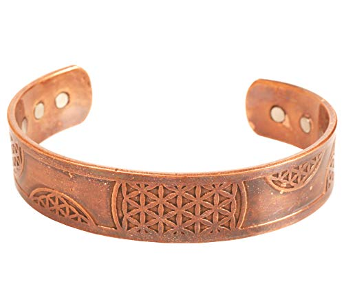 Touchstone Handcrafted By Indian Skilled Artisans Durable High Gauge Pure Copper Peace Exotic Celtic Design Chakra Mediation Magnetic Healing Bracelets In Natural Tone.