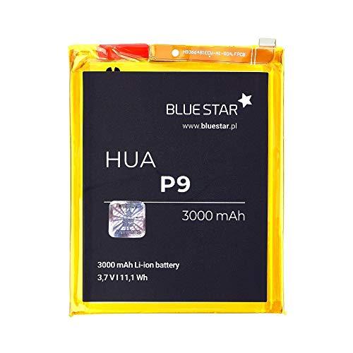 Blue Star Premium - Batería de Li-Ion litio 3000 mAh de Capacidad Carga Rapida 2.0 Compatible con el Huawei P9 / Honor 8 Dual SIM