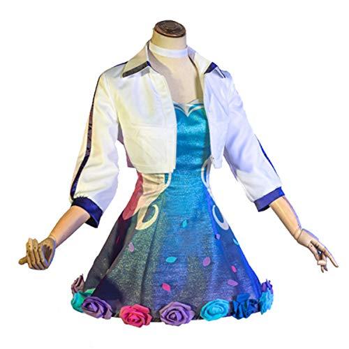 Xin Hai Yuan Juego LOL Cosplay KDA Seraphine COSTUCHE Cultura Vestido 2020 Star Rising STREAPHINE Mujeres Cosplay Disfraz Vestidos Conjunto,M