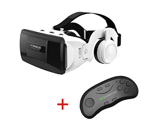 Affordable SPLY DTEM VR Glasses, 3D Virtual Reality Game Glasses Handle Set Headset Single Button An...