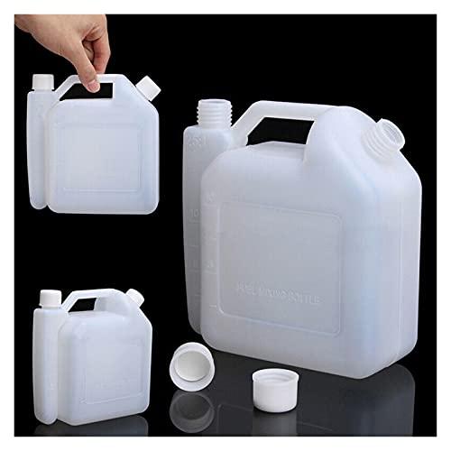 VOFP Filtro de Aire para cortacésped Botella de Aceite Petrol Combustible Mezcla Motosierra Caja de césped 1L Tanque Blanco de Aceite para recortador