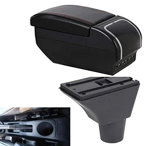 WANGLEISCC para Renault Logan, reposabrazos Hatchback, reposabrazos, almacén Central, Caja de Contenido con portavasos, cenicero, Carga USB, modificación de Coche