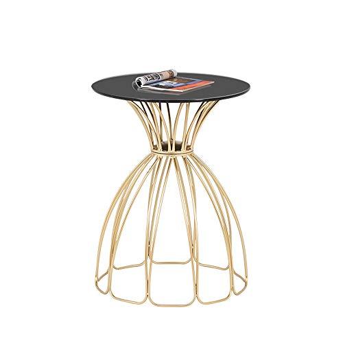Lapdesks ZR Table Murale- Table D'appoint, Meuble Latéral Nordique en Fer Forgé, Petite Table Basse Petit Canapé en Verre Trempé -économiser de l'espace (Couleur : Petal Coffee Table)
