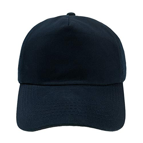 4sold Junior Original 5 Panel Cap Unisex Jungen Mädchen Mütze Baseball Cap Hut Kinder Kappe (Navy Blue)