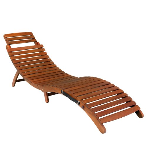 Christopher Knight Home Lahaina Wood Outdoor Chaise Lounge, Natural Yellow
