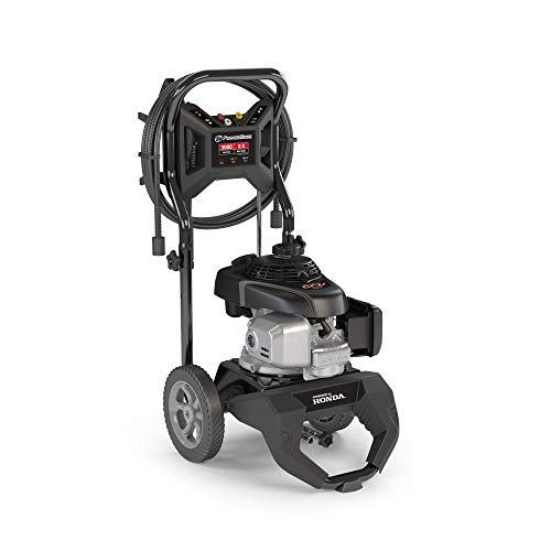PowerBoss 3000 MAX PSI at 2.0 GPM Gas Pressure Washer with 25-Foot Hose, and 4 Quick-Connect Nozzles, Powered by Honda