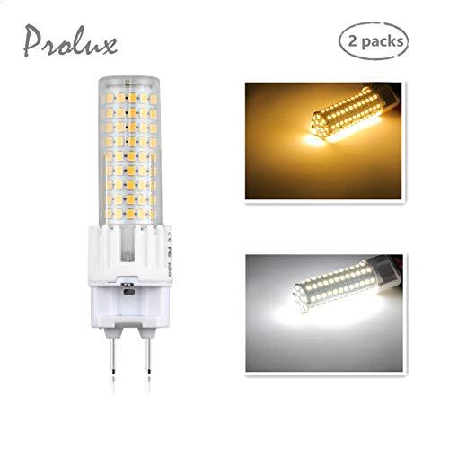 2x LED G12 Bombilla de Maíz 15W (Equivalente de 150W halógeno) con 1500lm Alto Brillo, Dos Pin Base G12 para iluminación del hogar, Centros Comerciales, Hotel, Cafetería, Museo(Blanco Frío 6000K)