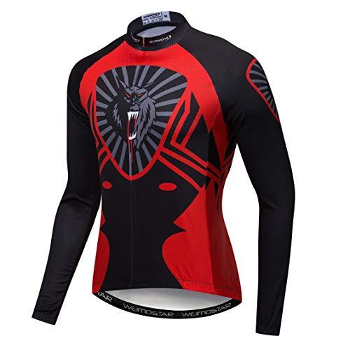 Weimostar Maillot de ciclismo de manga larga para hombre, para mountain bike,...