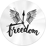AZHOULIULIU Co.,ltd Reloj de Pared Freedom Birds Wings Reloj Redondo con Motivo Moderno