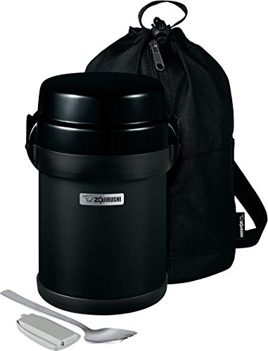 Zojirushi Mr. Bento Stainless Lunch Jar, 41 Oz, Carbon Black