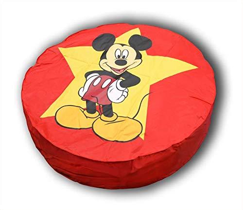 Pouf Géant Rouge Disney Mickey Mouse ø 110 cm fabriqué en France