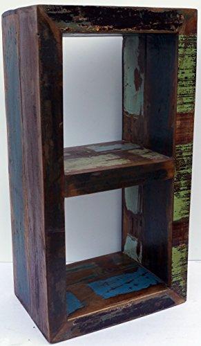 Guru-Shop Vintage Bijzettafel, Plank van Gerecycled Hout, 85x45x30 cm, Boeken-Wandplanken