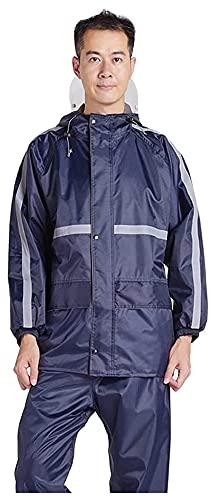 abrigo impermeable largo Llanura para hombres, chaqueta impermeable y juego de pantalones impermeables Ultra-Lite con capucha engranaje de lluvia para bicicleta ciclismo de ciclismo. overoles impermea