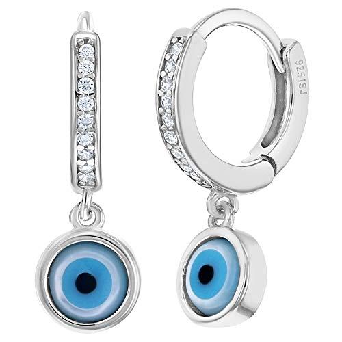 In Season Jewelry - Frauen - Ohrringe - 925 Sterling Silber - Böser Blick