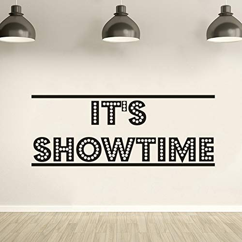 Wandaufkleber Wandkunst Es ist Showtime Poster Film Wandtattoo Kino Theater Dekoration Film Streifen Klebeband Wandaufkleber Kino Ecke Tapete Kunst 74x29 cm