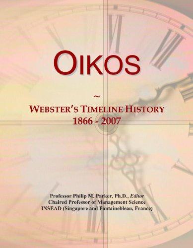 Oikos: Webster's Timeline History, 1866 - 2007