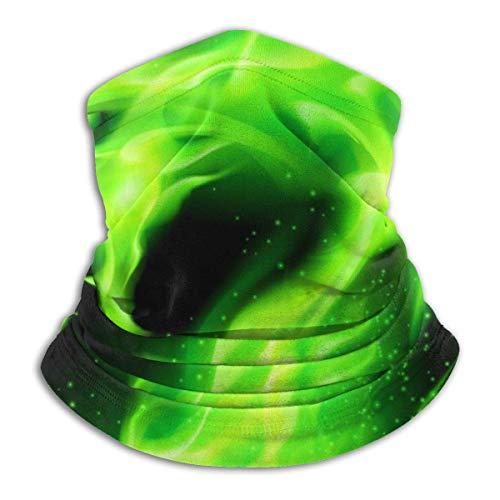 Lzz-Shop Halswarmer donkergroen draak - haarband sjaal wikkelsjaal halswarmer vissjaal sportsjaal voor het gezicht